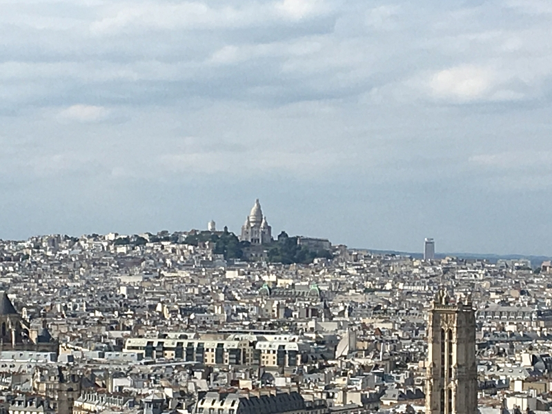 View of Sacré Coeur from Notre-Dame Tower
