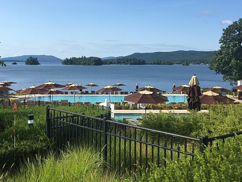 View of Pool and Lake