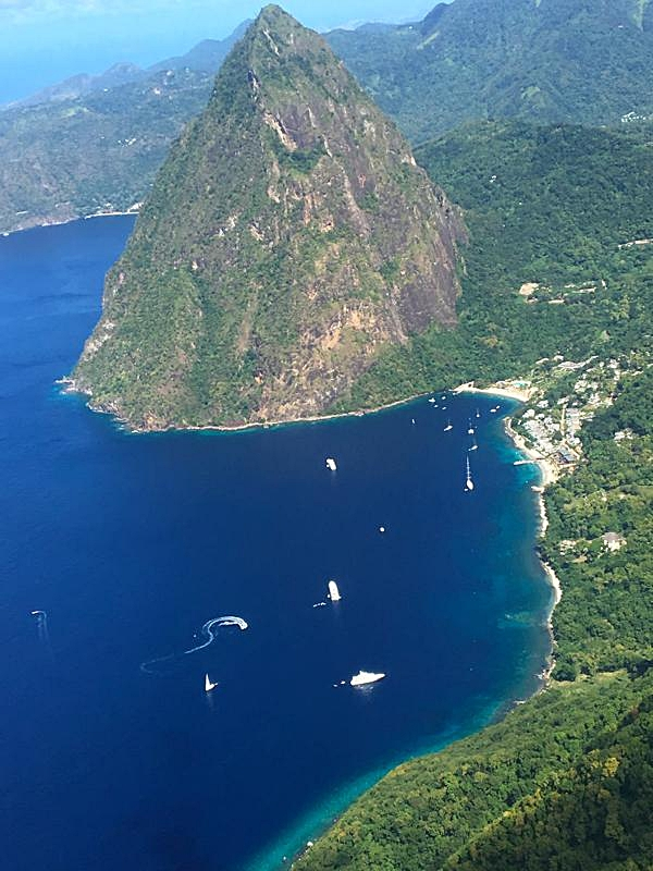 Aerial View of Petit Piton