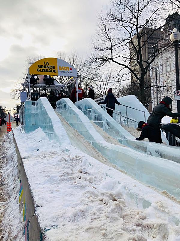 Start of the Via Rail Ice Slide