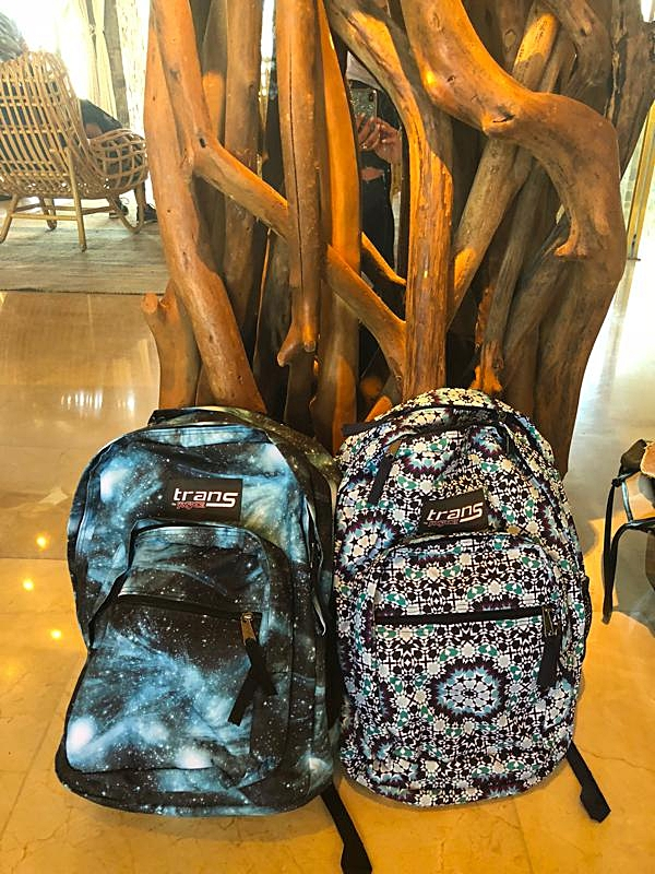 Our back pack gifts!