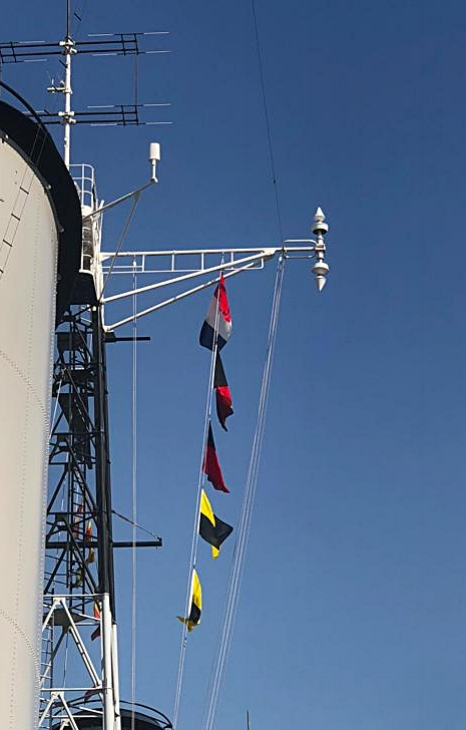 HMS Belfast flags