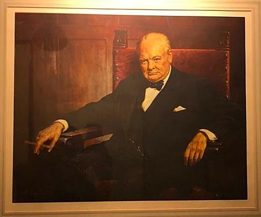 Portrait of Winston Churchill