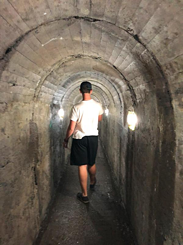 Heading Down the Tunnel to the Volcano