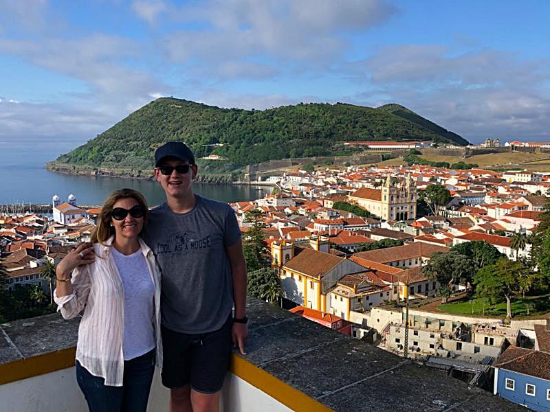 View of Monte Brasil and Angra do Heroismo
