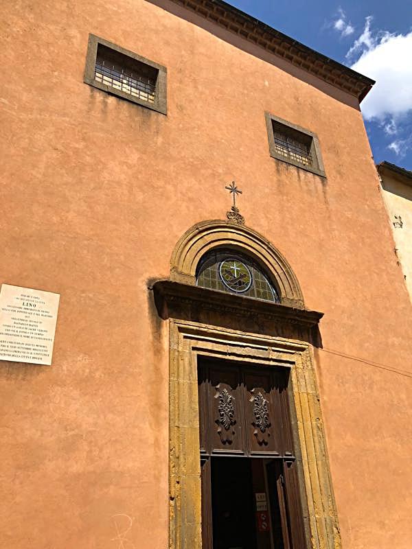 Facade of the Church of Saint Lino