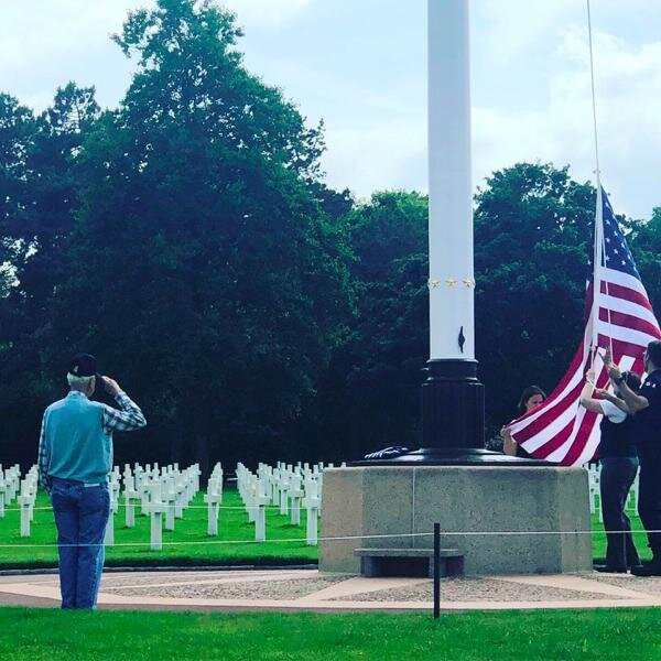 A Veteran's Tribute at the American Cemetery