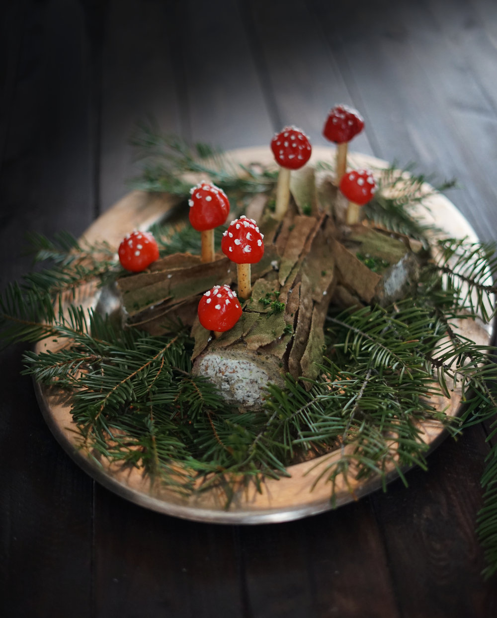 Blog Image De Noel.Savory Wild Mushroom Buche De Noel The Wondersmith