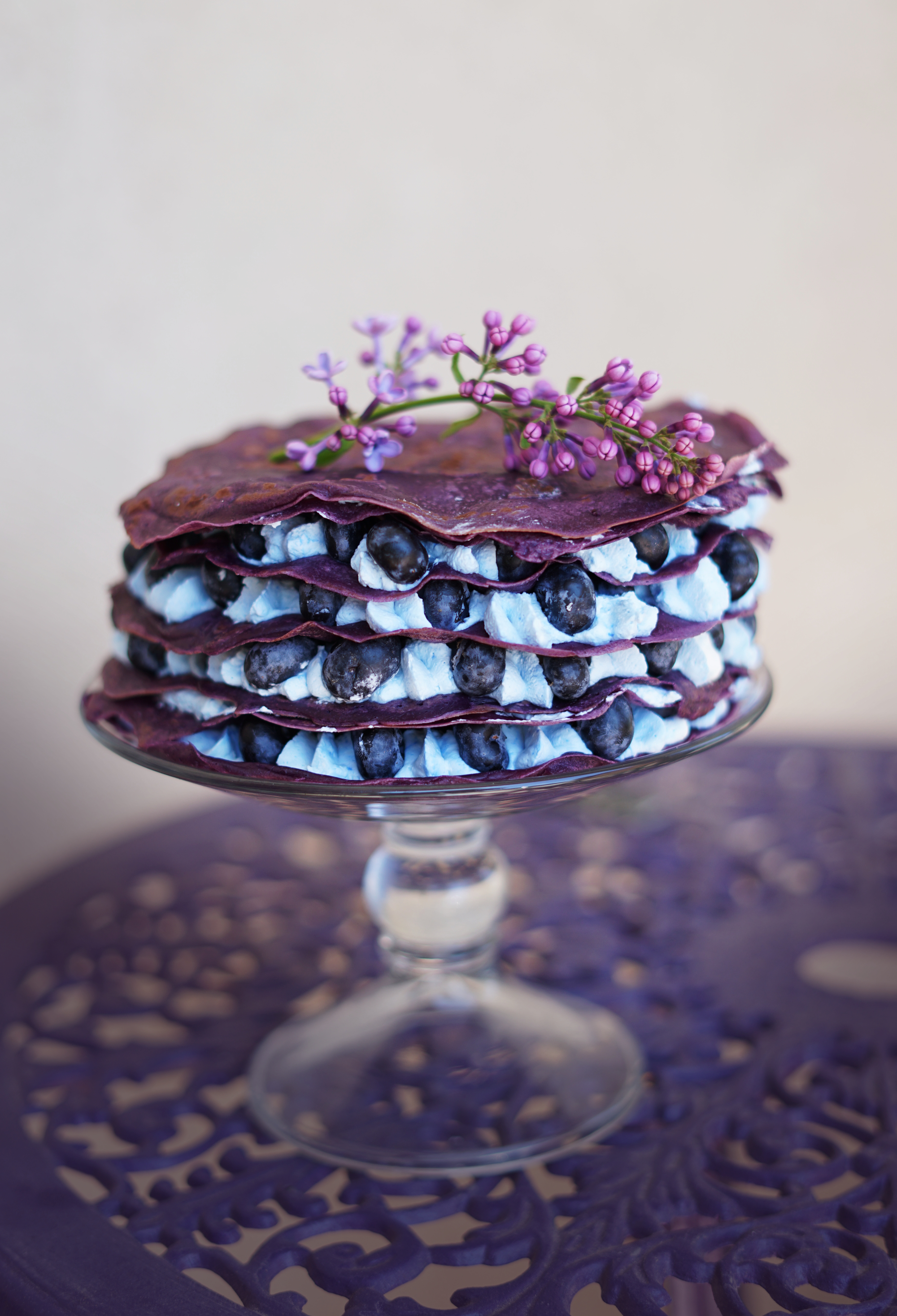 b6f8aad9c919 Blueberry Lilac Crepe Cake: A Celebration of Ethereality — The ...