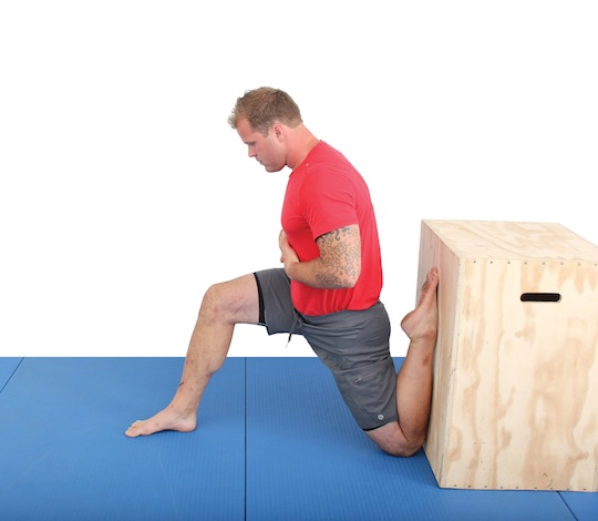 The Couch-Stretch - to make it easier, substitute the box for a couch and let the foot rest on it
