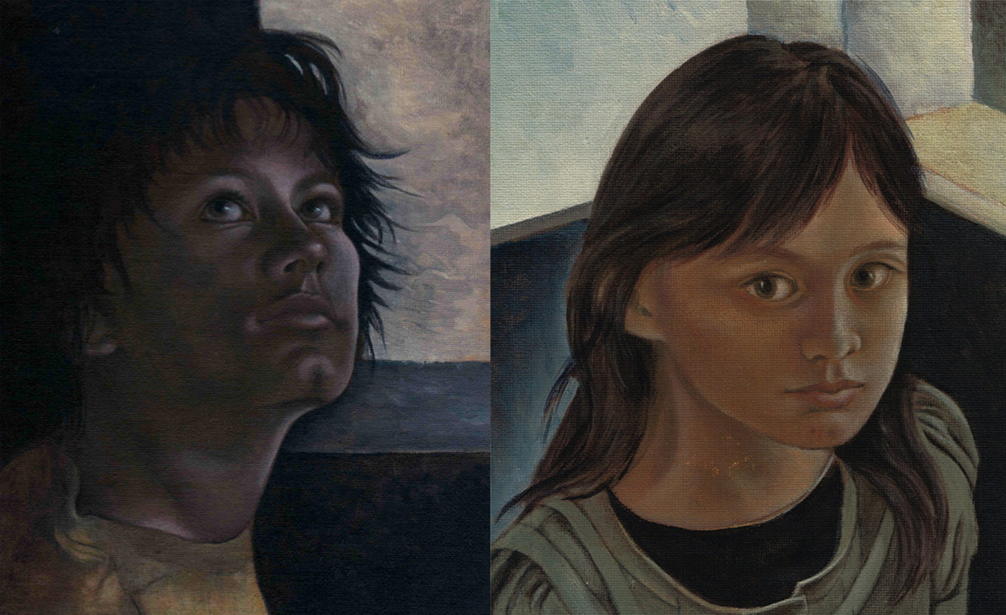 Portait 1, 2011 (Acrylic paint) / Portait 2, 2010 (Acrylic paint).