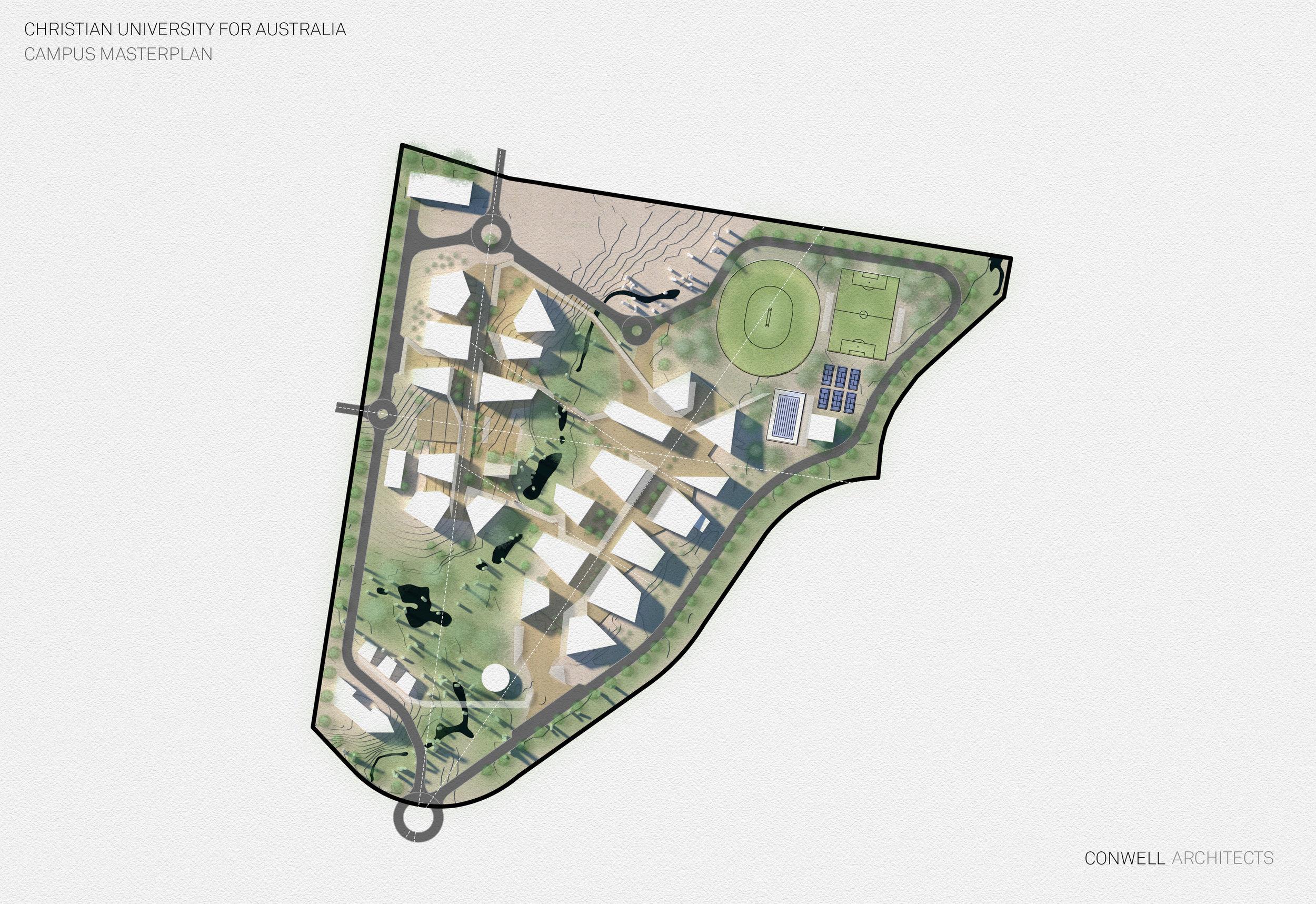 Conceptual Masterplan - CUFA Maroochydore Campus