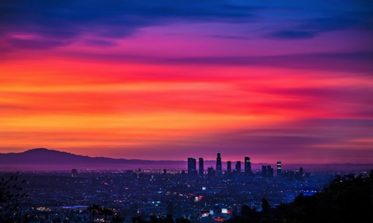 Breathtaking sunrise view through the windows.