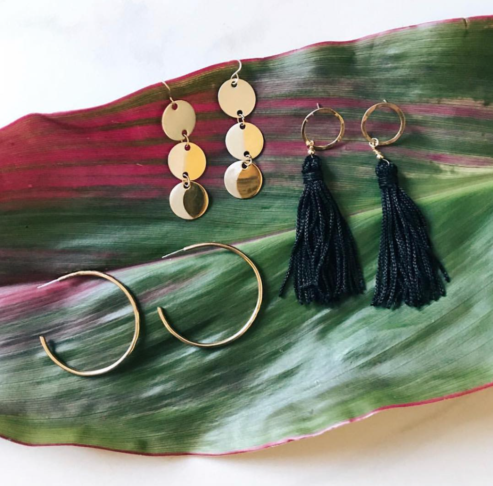 Stunning handmade earrings by vendor In Reverie Jewelry (@inreveriejewelry on Instagram). Photo via Allright Collective.