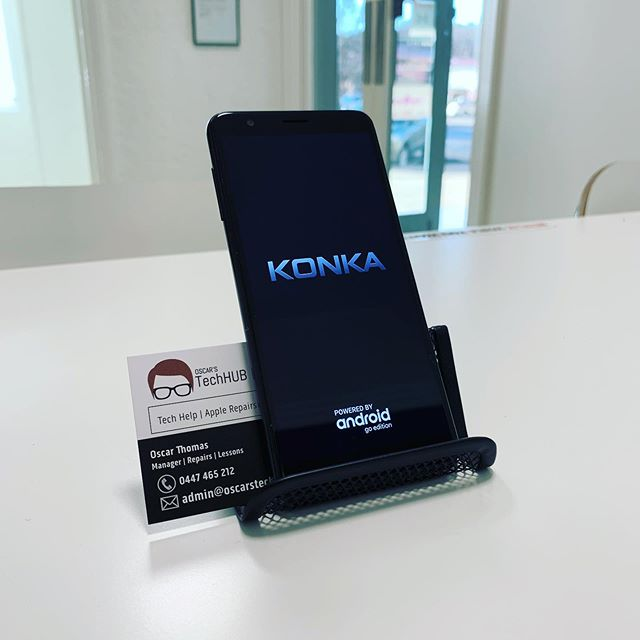 FOR SALE 📱KONKA SP3 8GB ▪️ 8GB Storage (expand to 32GB) ▪️ 5' Display ▪️ 5MP Rear Camera ▪️ 1.3Ghz Quad Core  ONLY $40.00  Incl. Micro USB Cable and power brick (not genuine). Come in store to grab this great starter phone! #oscarstechhub