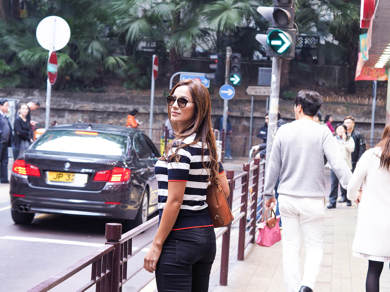 Walking through TST, Kowloon