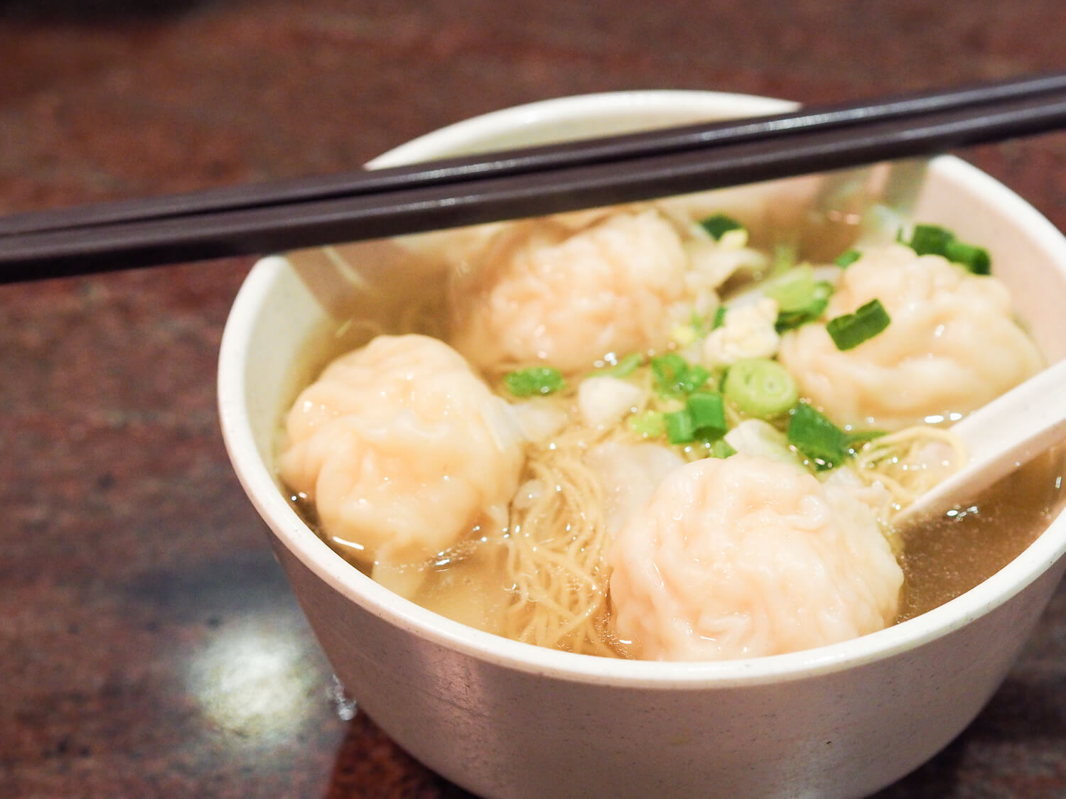 Traditional wanton noodles are a must-try when visiting Hong Kong