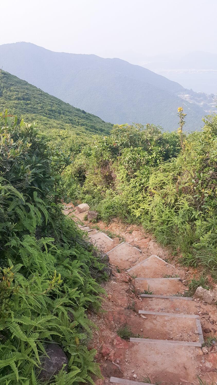Views while hiking Hong Kong