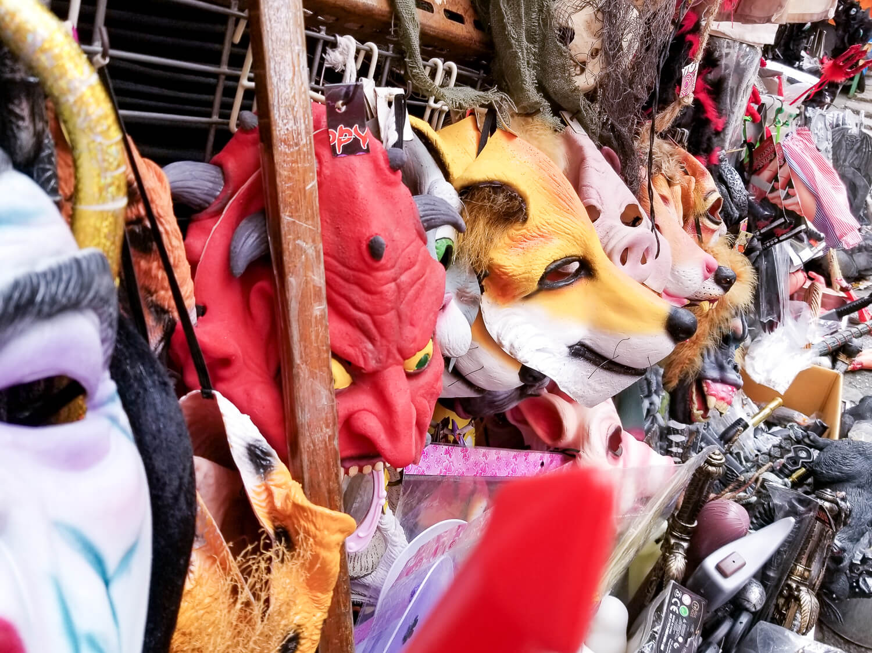 Pottinger Street aka Costume Street Halloween masks