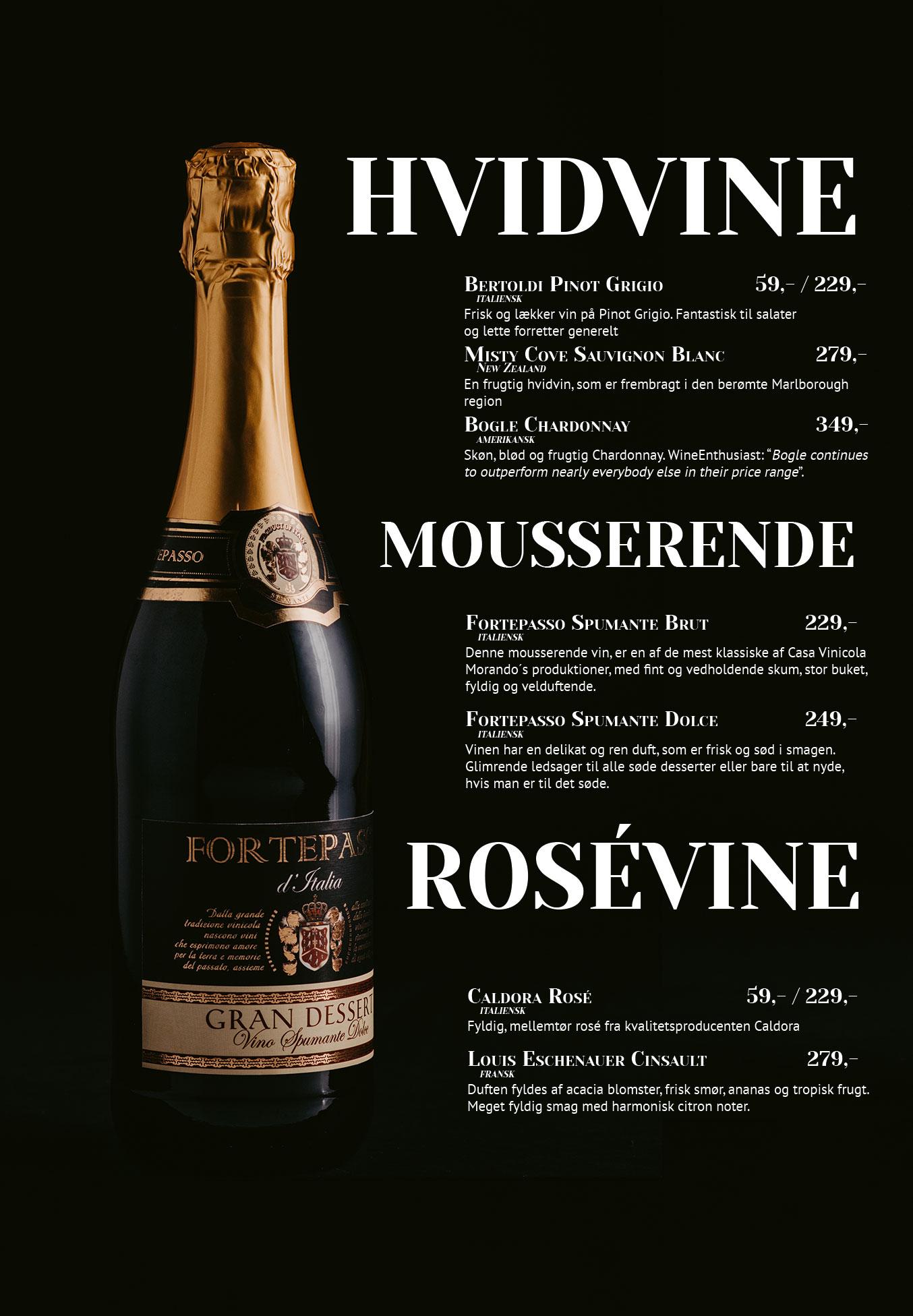 Side 11: Hvidvine, mousserende og rosévine