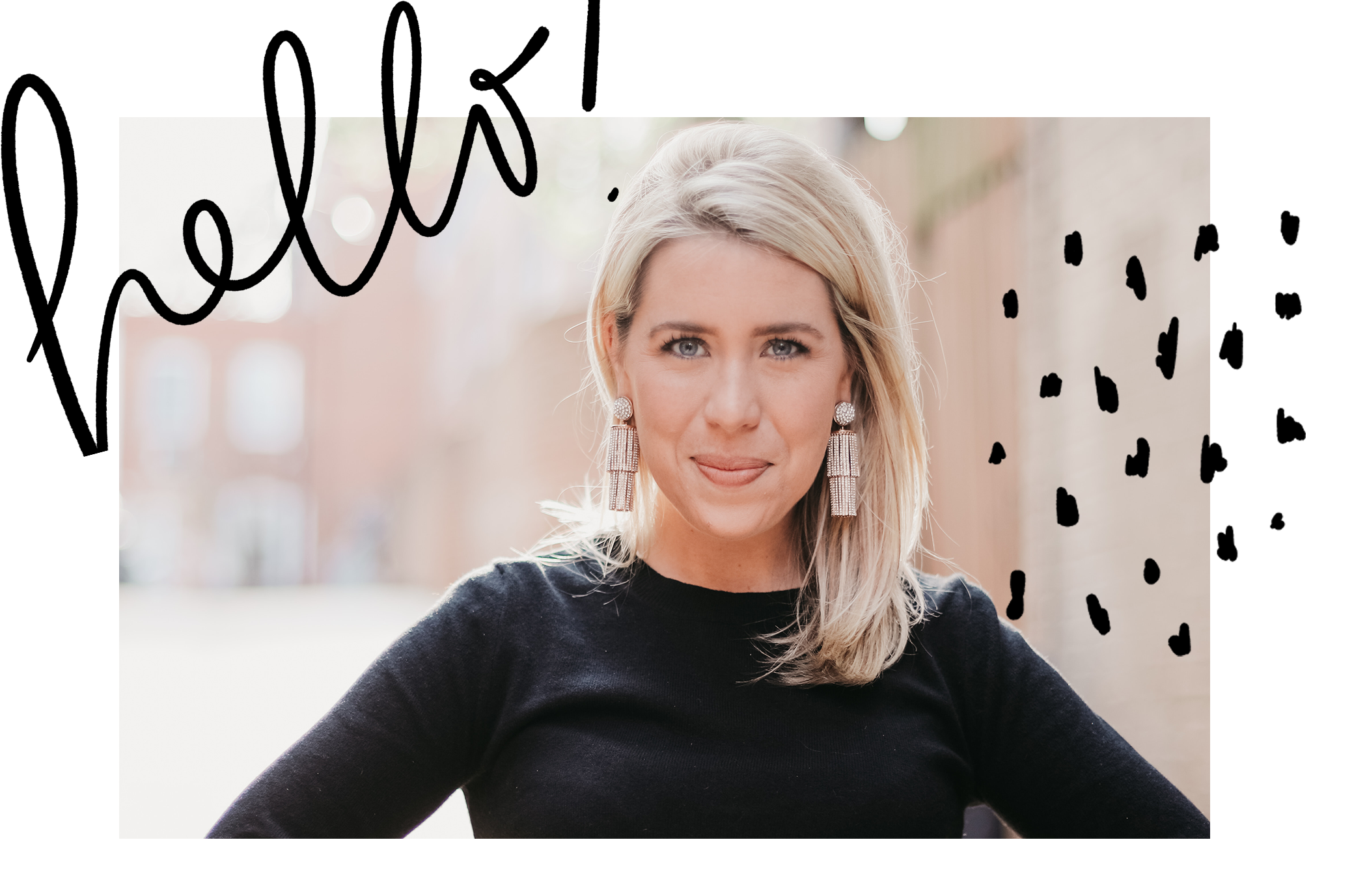 """meet beezy - Hi! My name is Sarah Butler, but I go by Beezy! I am a creative communicator and digital marketer based in Washington, DC. I created this website to house my portfolio. Hover your mouse over the black """"Featured Projects"""" button above to see some of my fav projects!"""