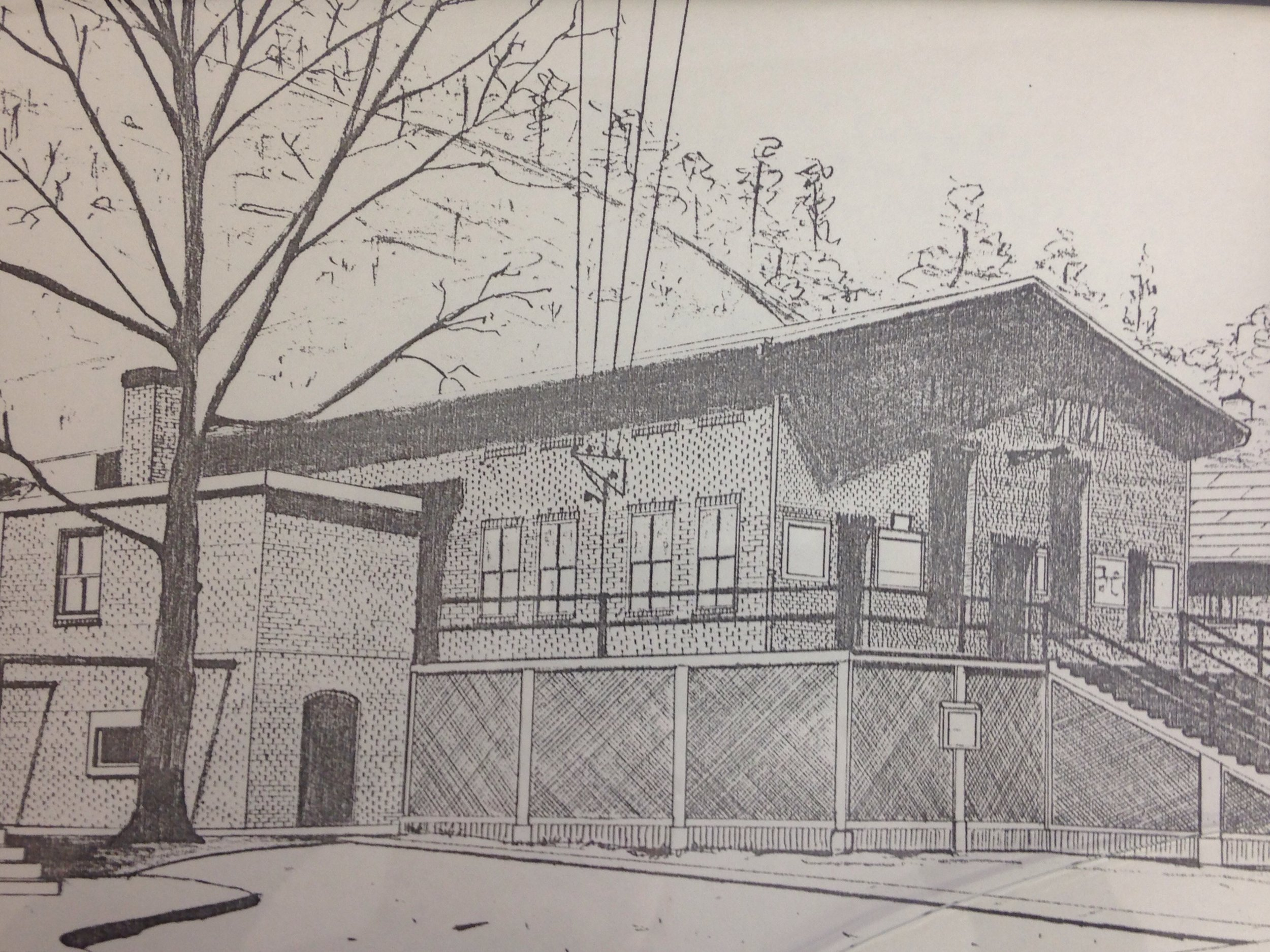 Drawing of Clinchco's Past