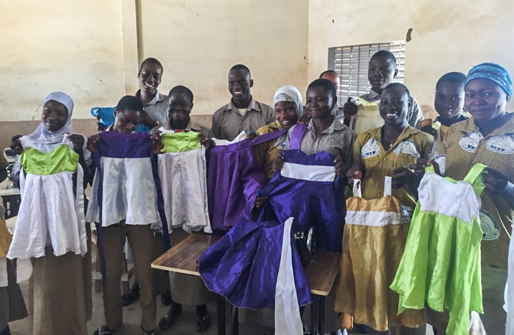 Teaching the students sewing vocational skills enhancing their education in Burkina Faso