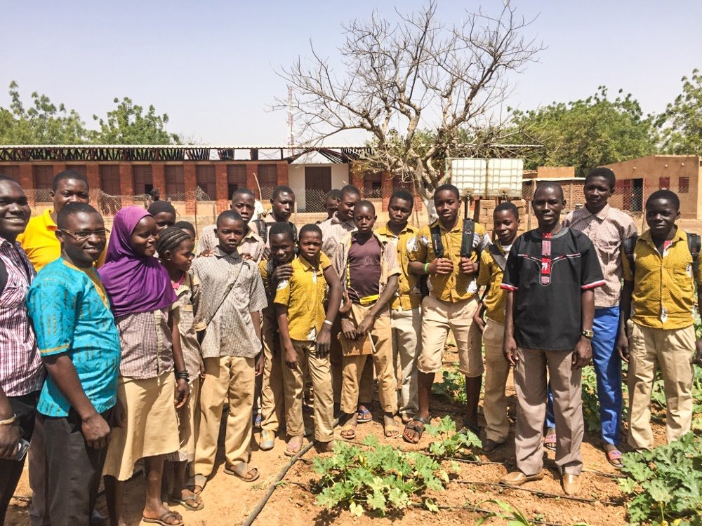 Teaching the students agricultural vocational skills enhancing their education in Burkina Faso