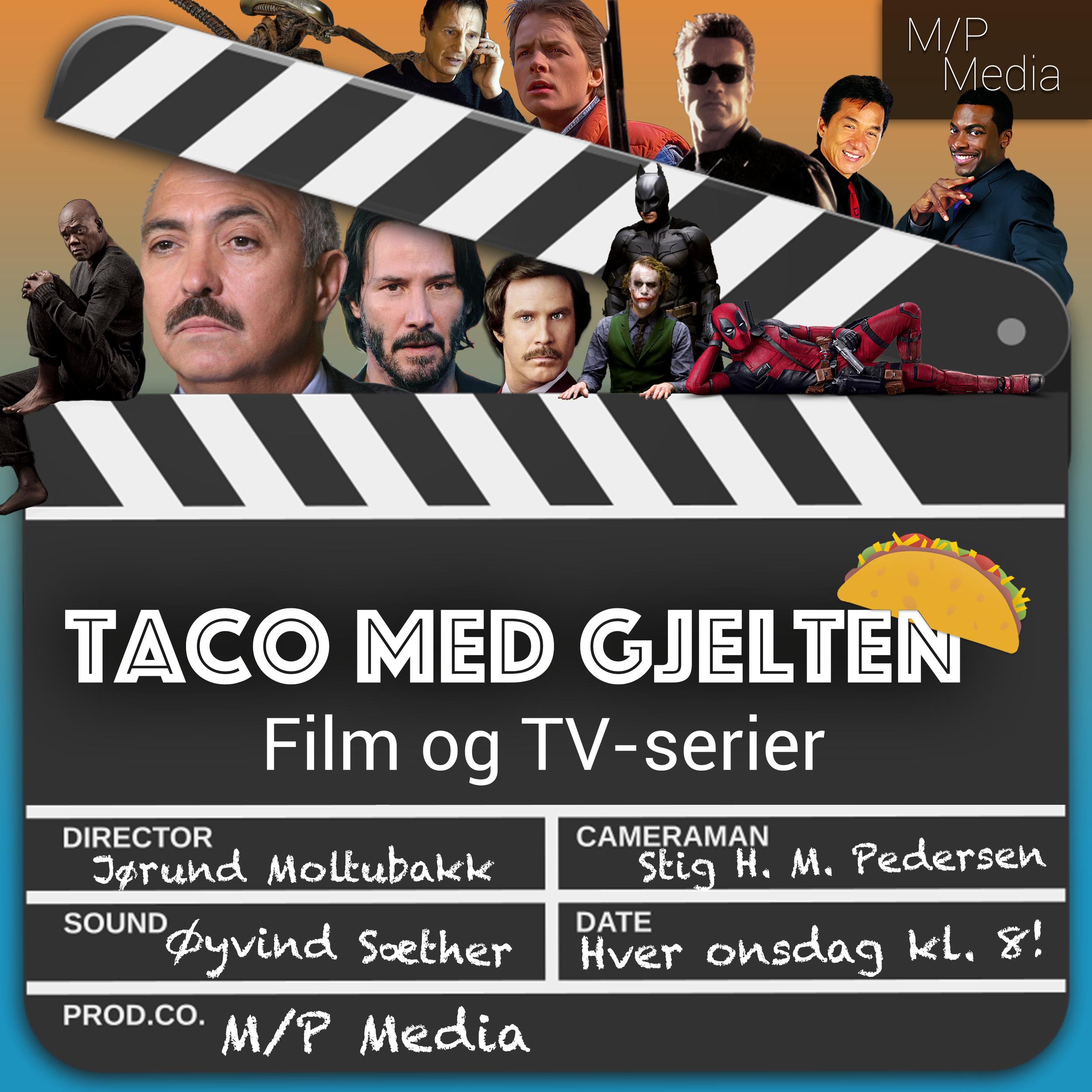 Taco med gjelten - En god film eller serie diskuteres best i gode venners lag. Jørund, Stig og Øyvind tar for seg film og TV-serier.