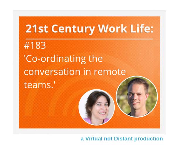 Co-ordinating the conversation in remote teams image