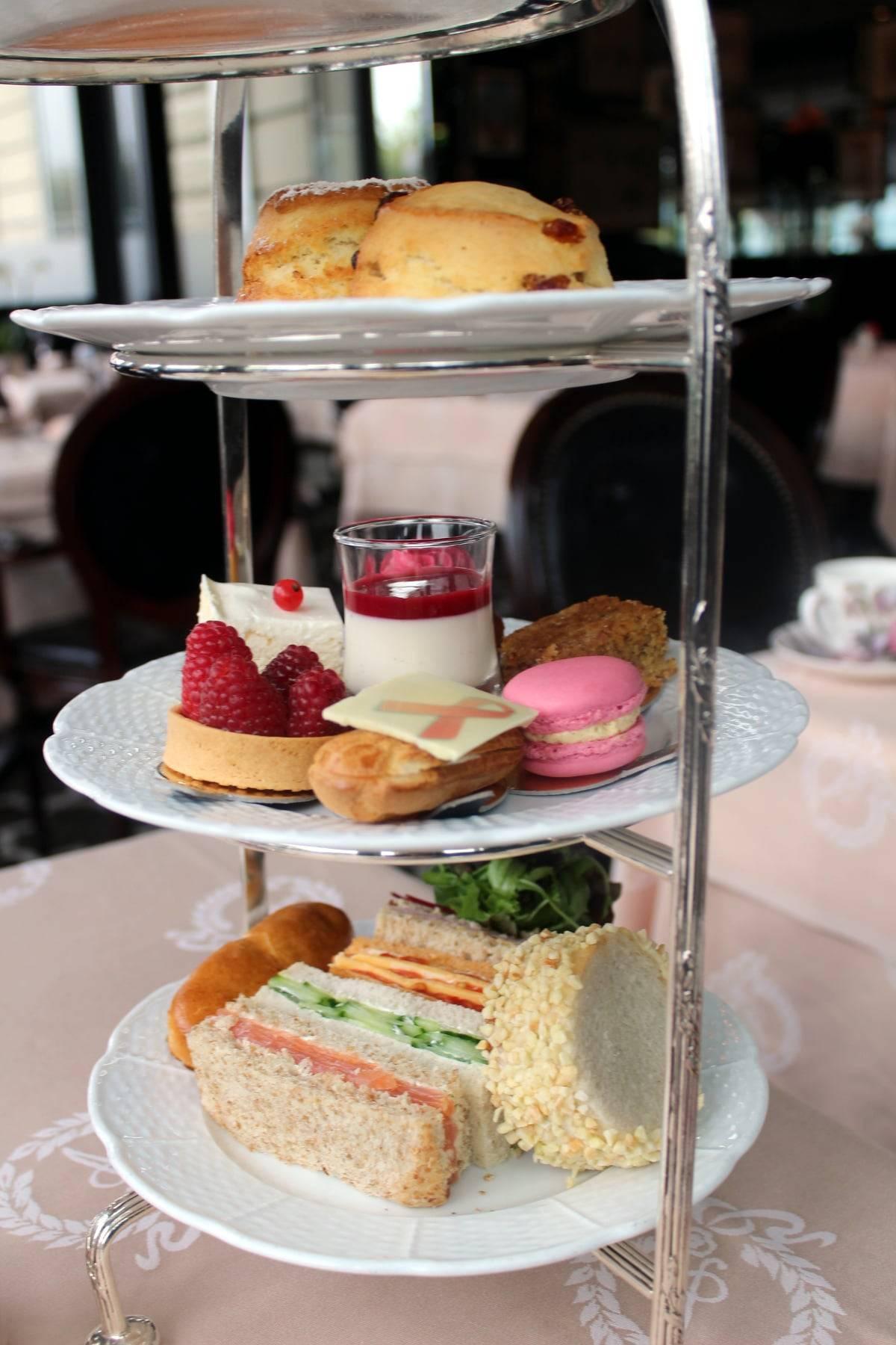 afternoon tea pink