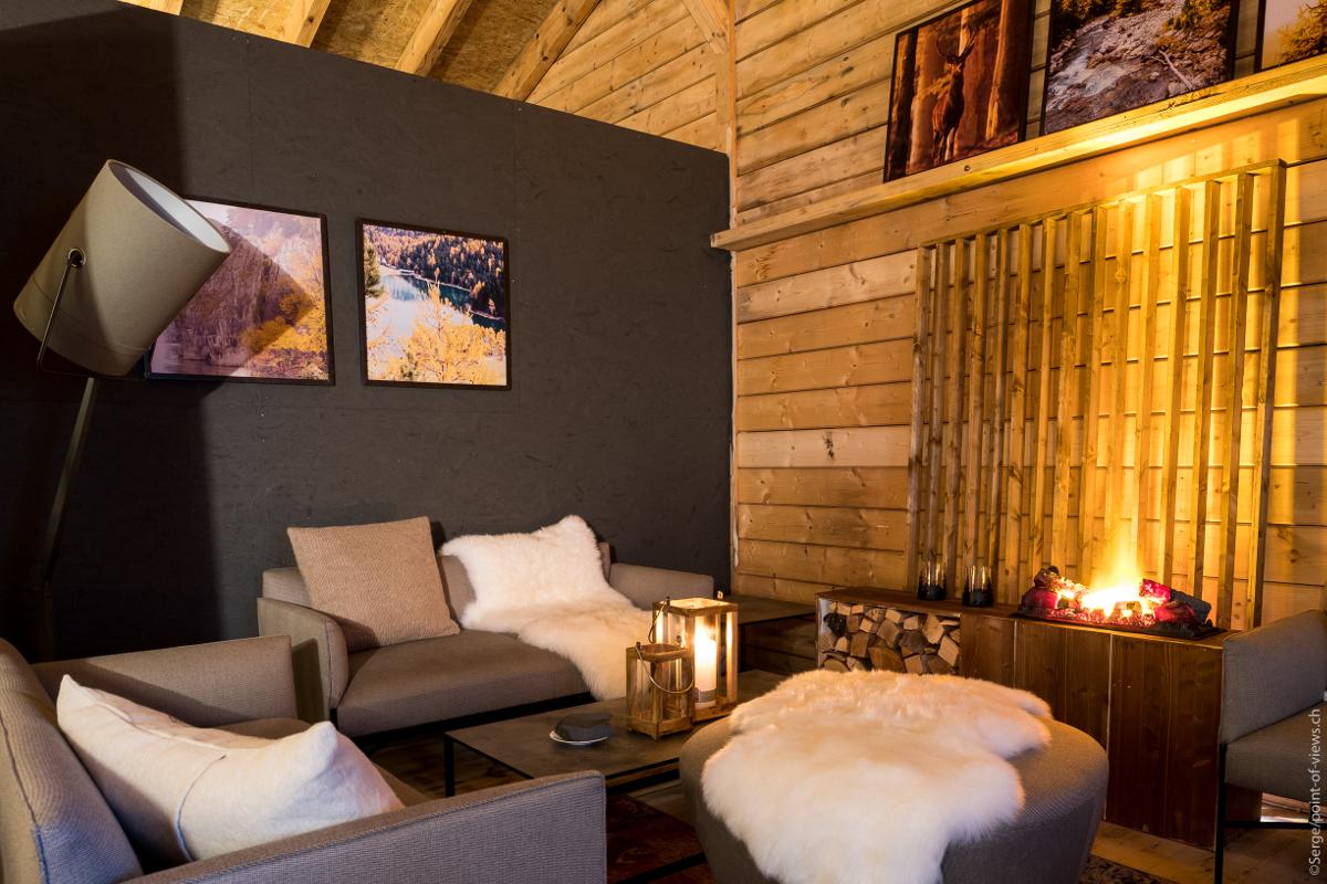 Décoration du Winter Lounge