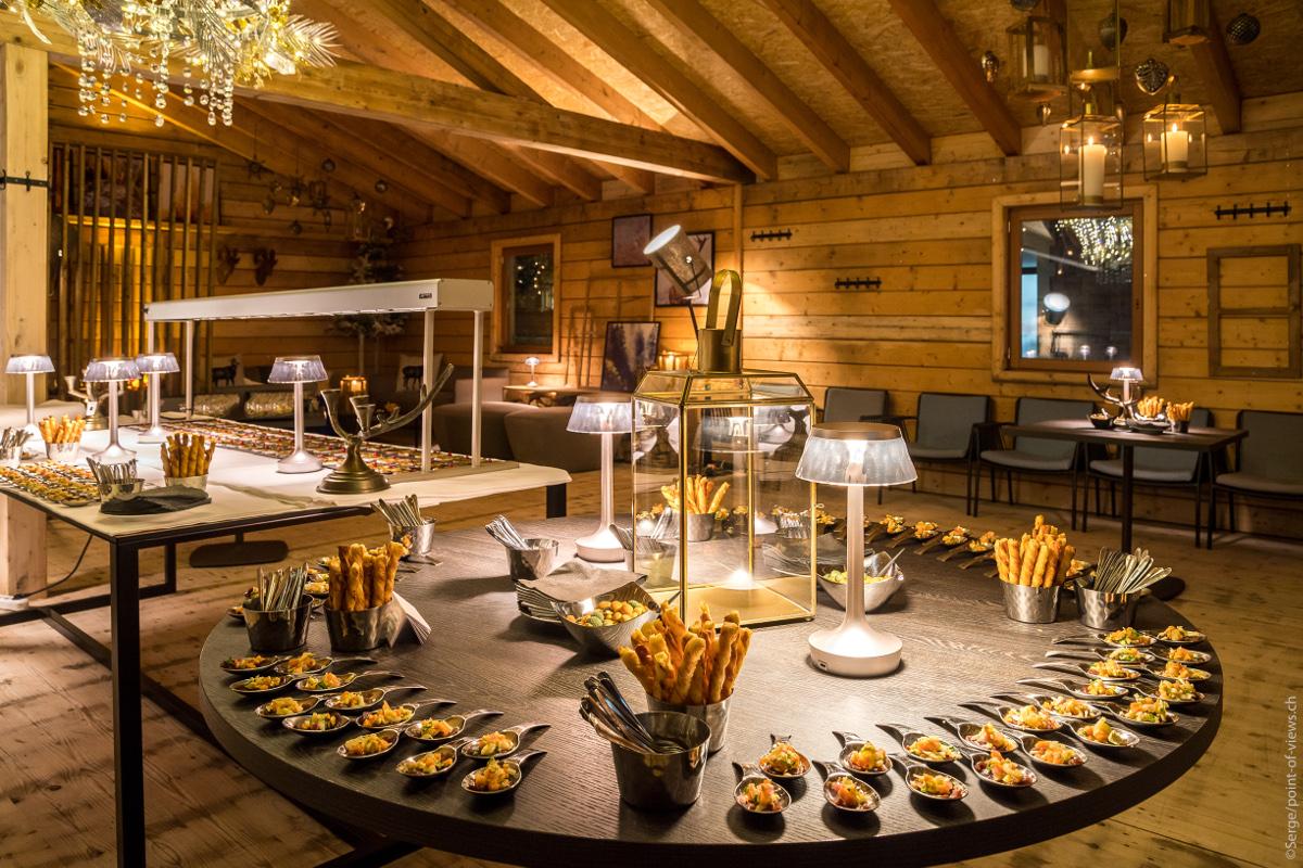 Décoration et gastronomie au Winter Lounge