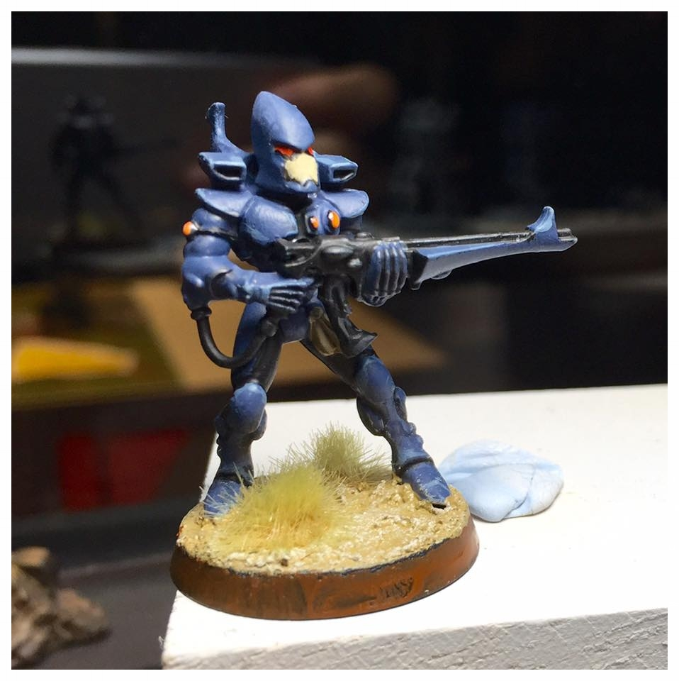 My second miniature - better control overall, and understanding. I still need more practice with the highlighting.