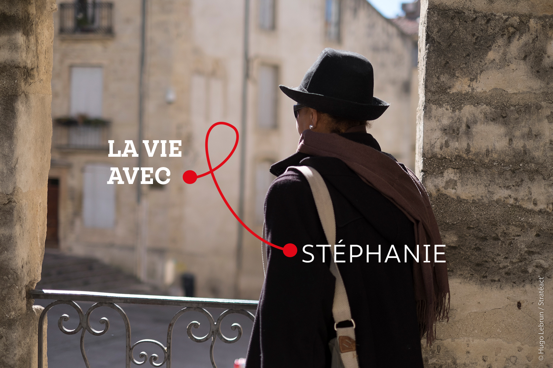 """""""J'ai lutté longtemps contre mon état fragile et je suis fière aujourd'hui d'avoir remporté ces combats"""" - Stéphanie, personne vivant avec le VIH et bénévole"""