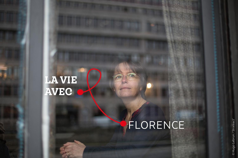 """""""Finalement on peut se protéger avec les traitements et pas seulement avec le préservatif. Ça a été une libération"""" - Florence, personne vivant avec le VIH"""