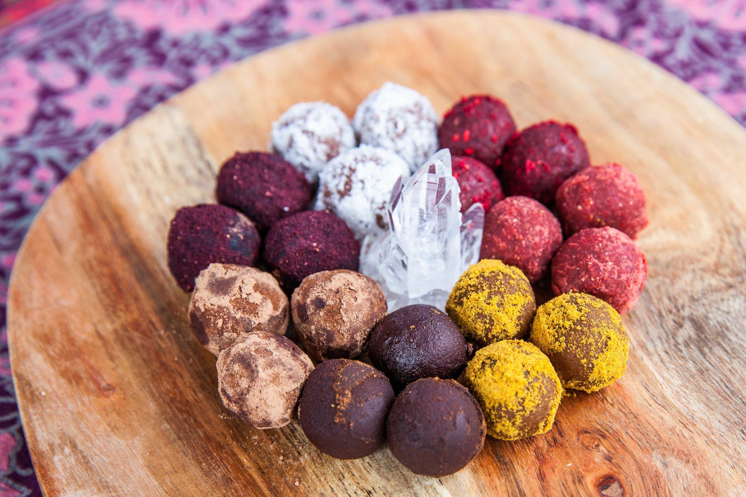 Raw Chocolate Truffles from Vivacious Dish