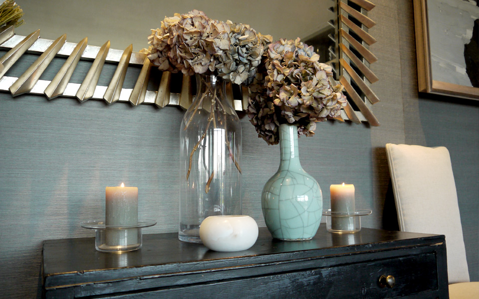 Luxury Interior Design at Montevetro apartment in Battersea, London.