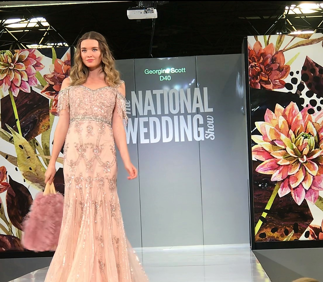 Georgina Scott at Birmingham national wedding show, September 2018