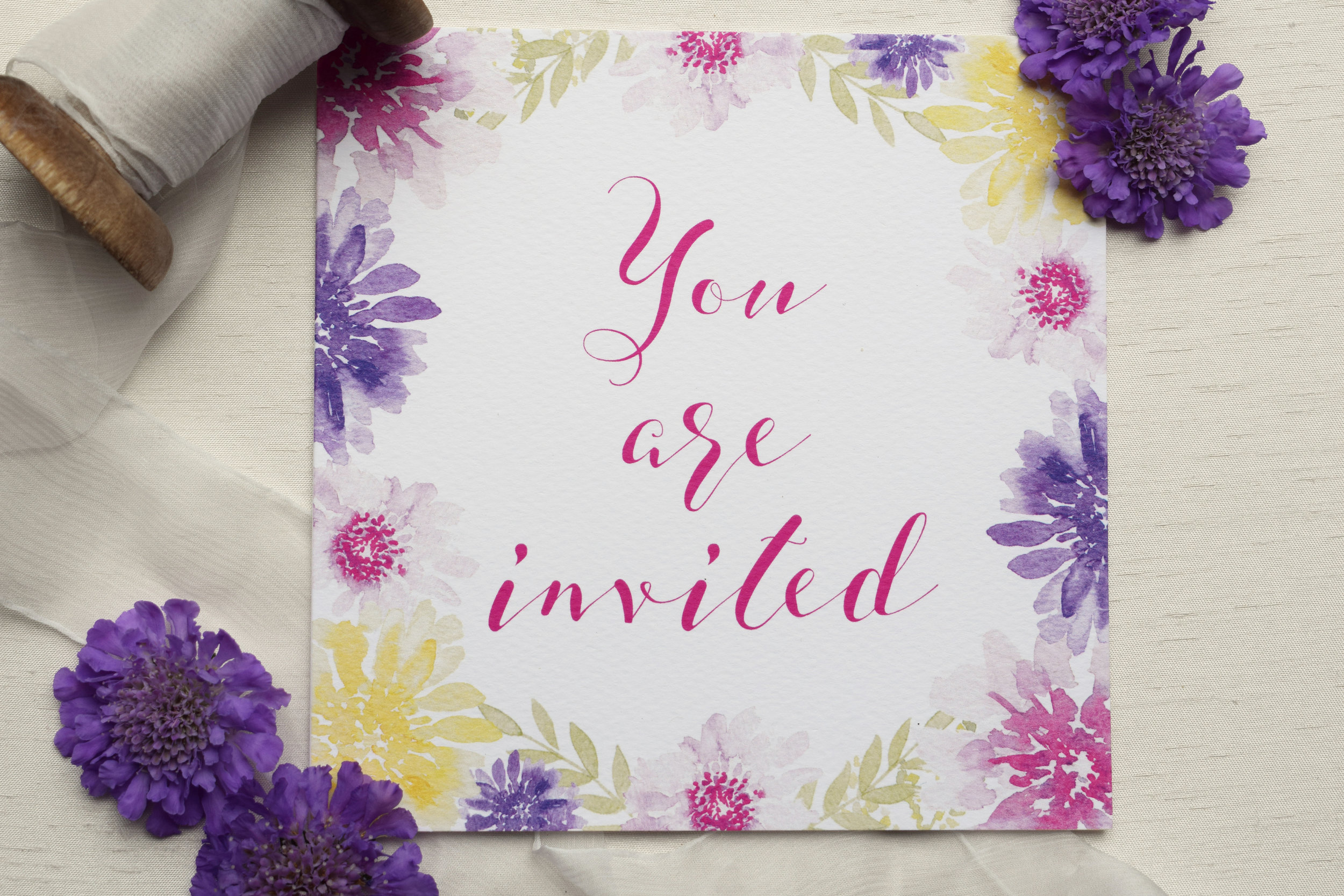 Bloom floral square wedding invitation.jpg
