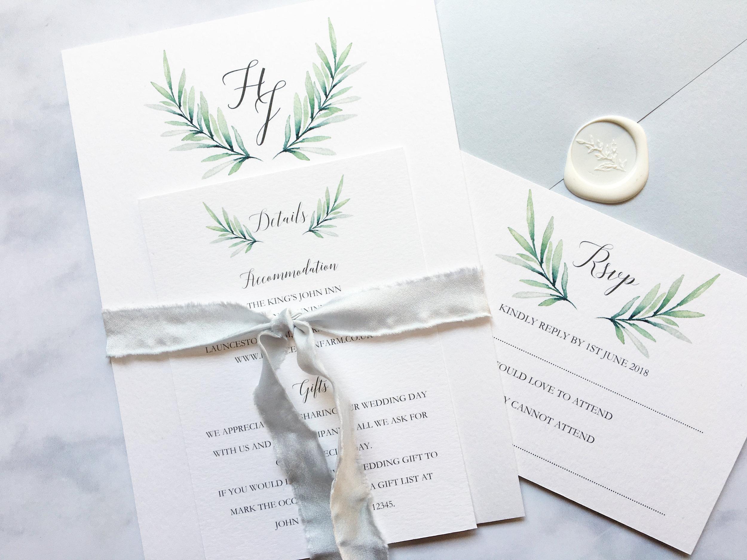 Botanical invite set and envelope.jpg