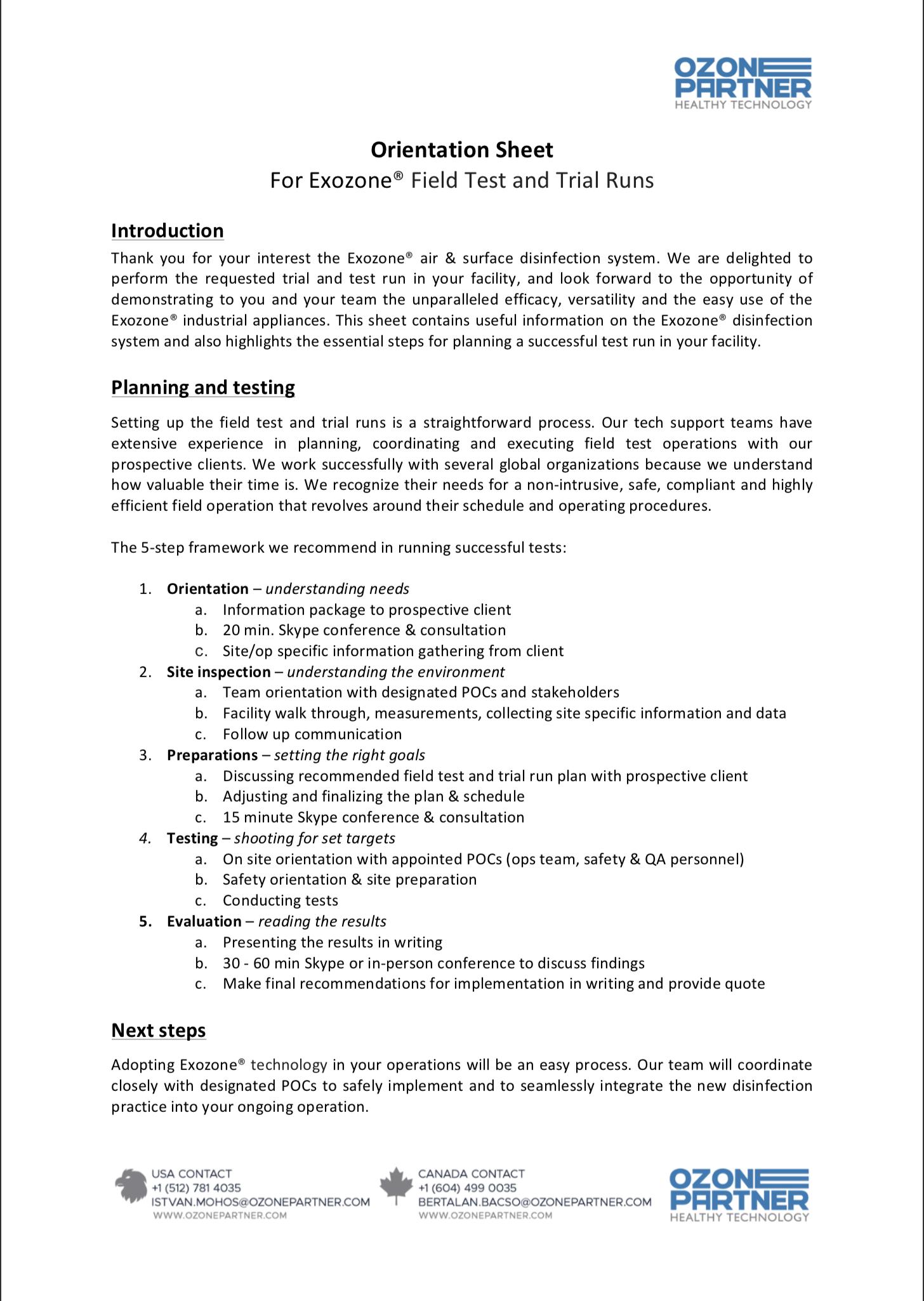 Download Orientation Sheet