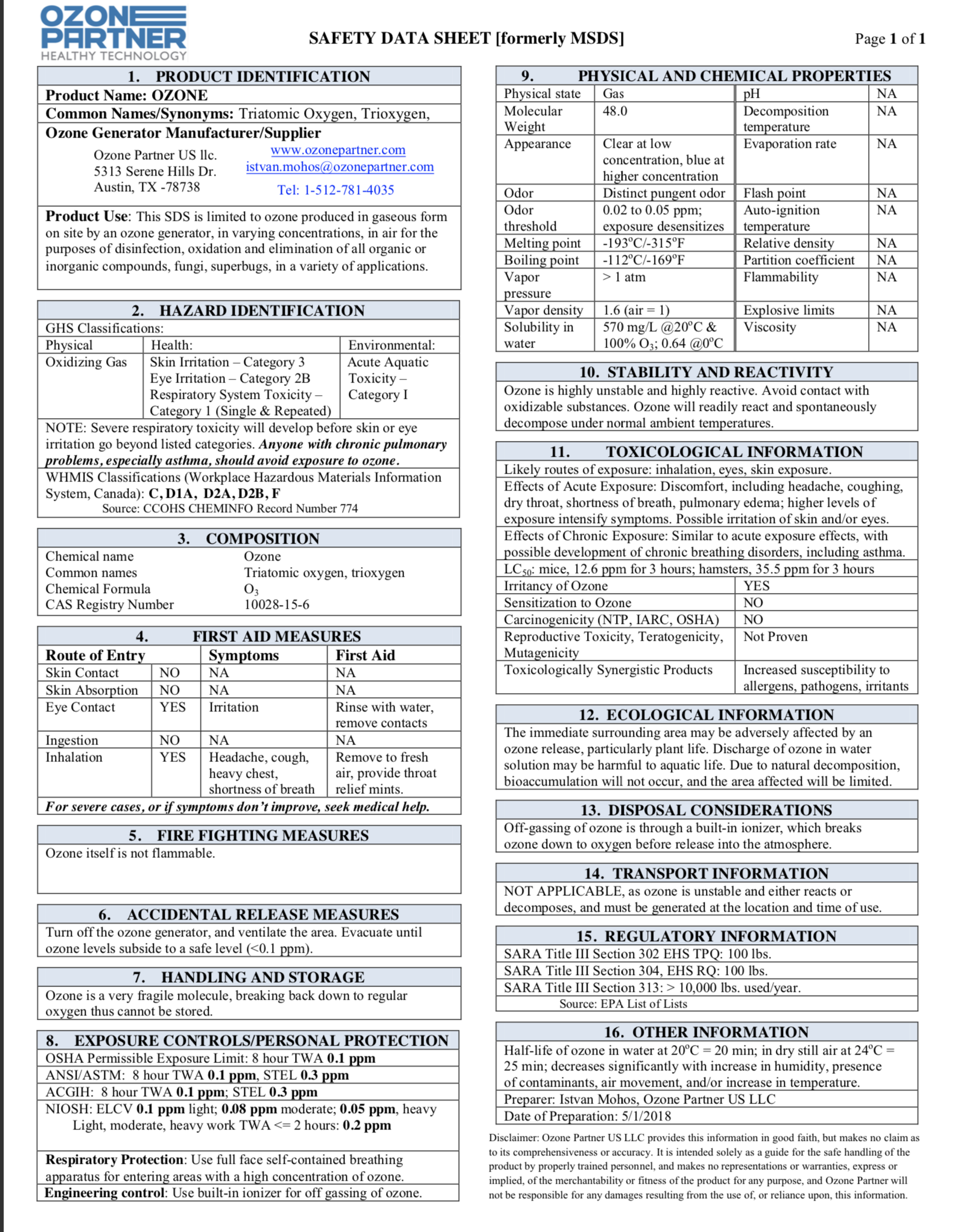 Copy of View MSDS Sheet