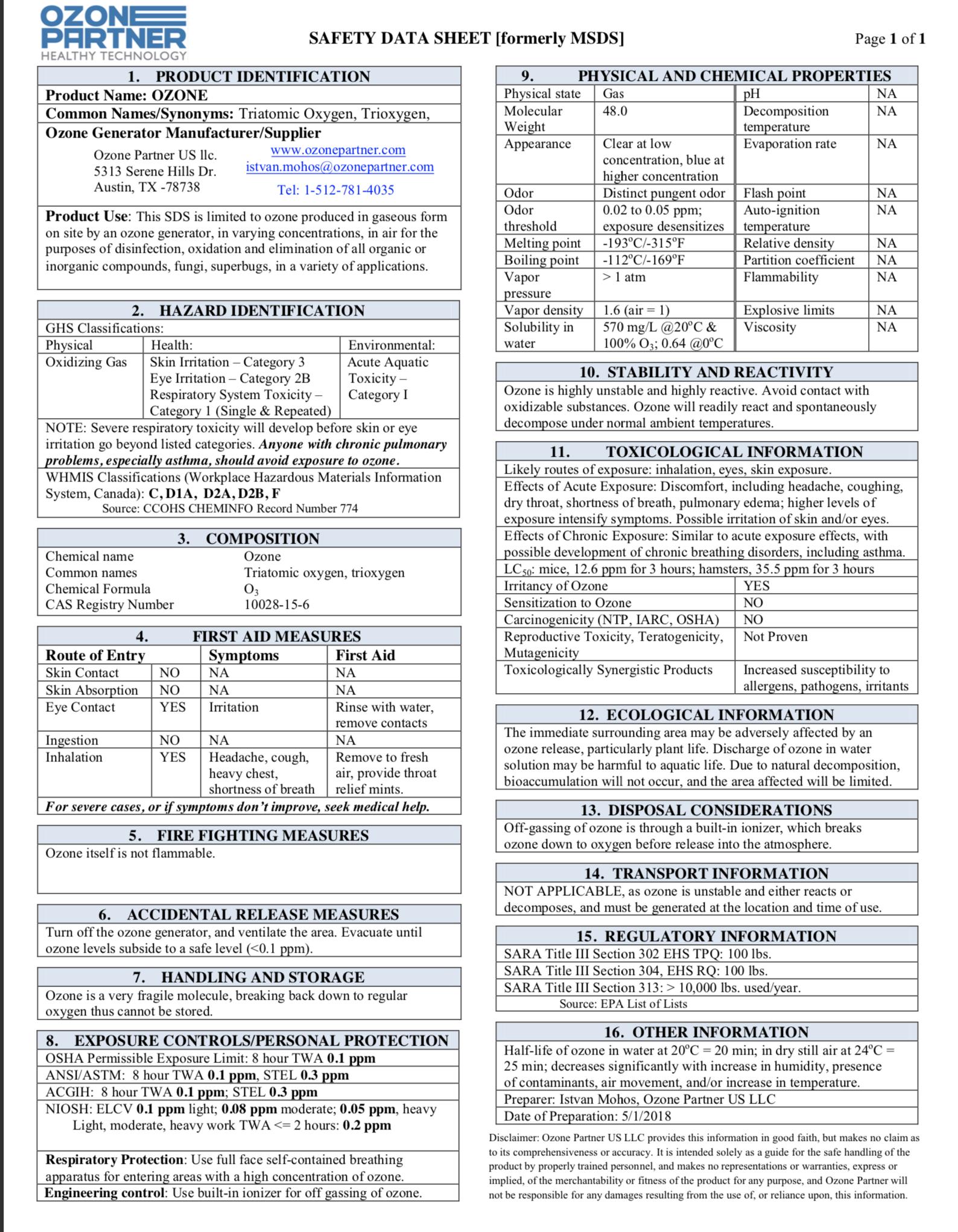 Download MSDS Sheet