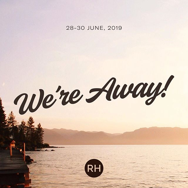 WE'RE AWAY THIS SUNDAY • This weekend, we're away at Port Hacking for our weekend away! • We can't wait to unpack the theme of 'Enjoying Jesus' and spend lots of time together as a church family. We'll be back as usual next Sunday at 10am. See you next week!