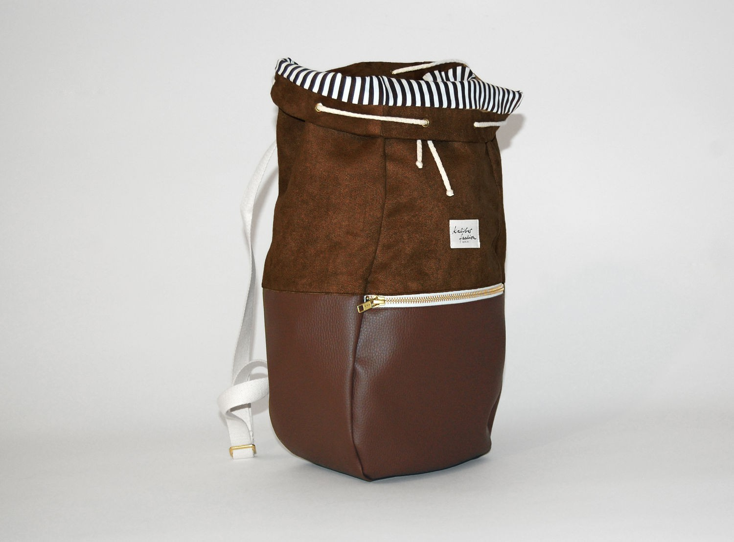 KALIBER FASHION   RUCKSACK,  LOVE & SOUL, BROWN  €98