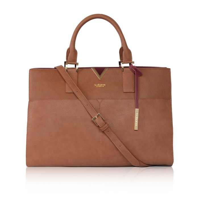 LABANTE LONDON   aVANT CARRYALL BAG, BROWN  €175,16
