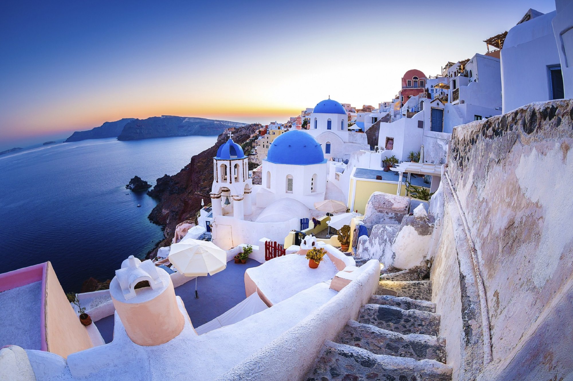 Santorini Greece minimoon destination honeymoon