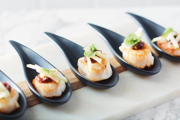 Seared Scallop with Pickled Daikon and Chilli Jam