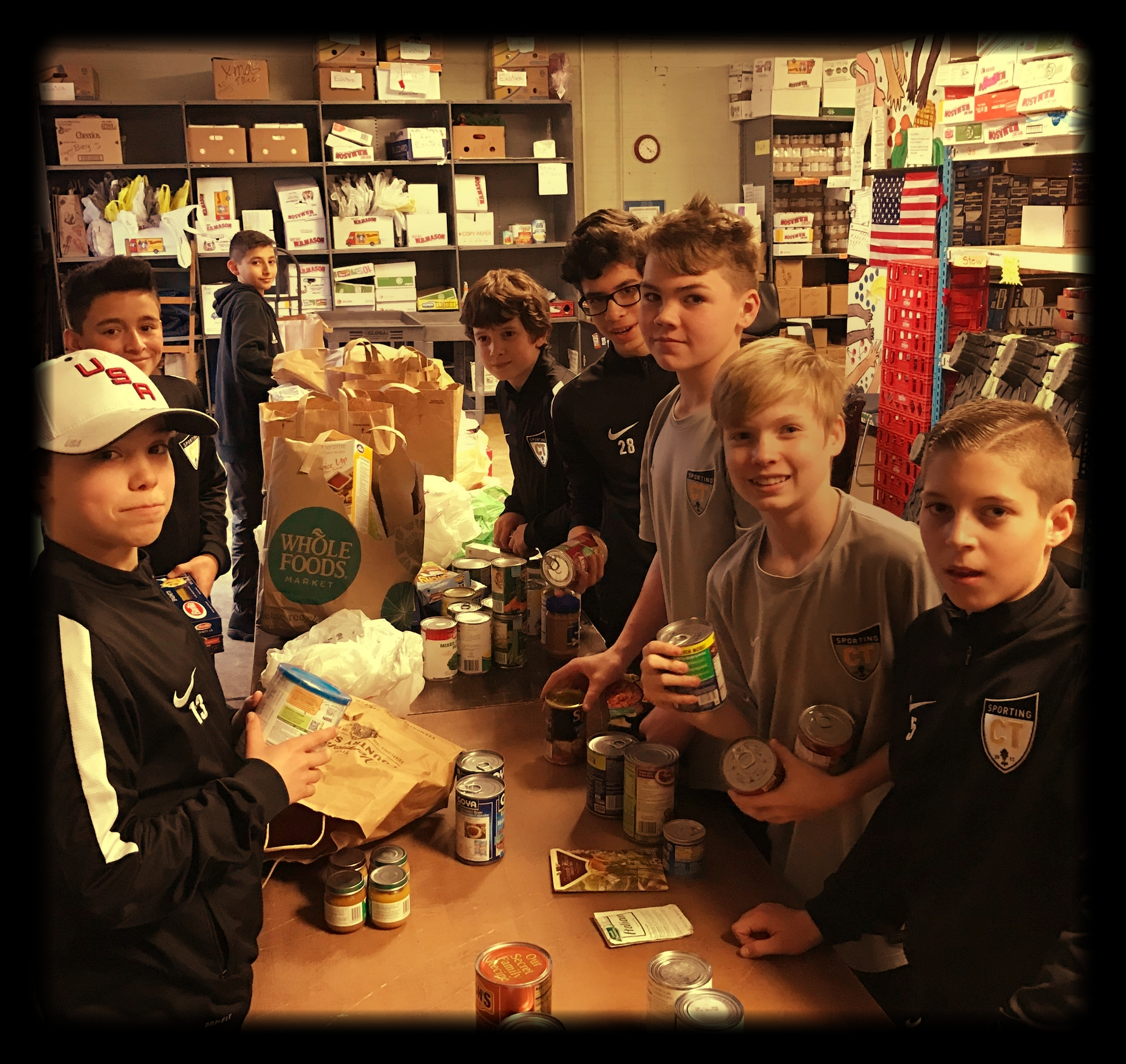 2004 Boys at the local food pantry.